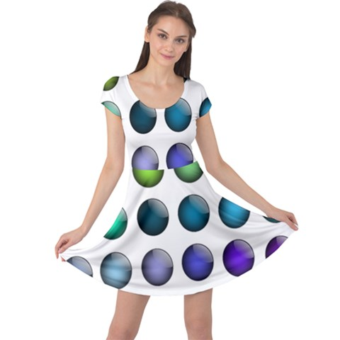 Button Icon About Colorful Shiny Cap Sleeve Dresses