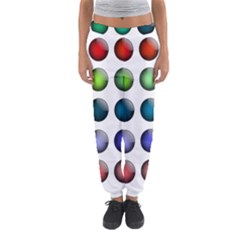 Button Icon About Colorful Shiny Women s Jogger Sweatpants