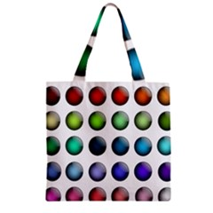 Button Icon About Colorful Shiny Zipper Grocery Tote Bag