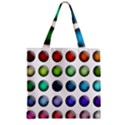 Button Icon About Colorful Shiny Zipper Grocery Tote Bag View1