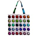 Button Icon About Colorful Shiny Zipper Grocery Tote Bag View2
