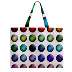 Button Icon About Colorful Shiny Zipper Mini Tote Bag