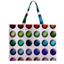 Button Icon About Colorful Shiny Zipper Mini Tote Bag View1