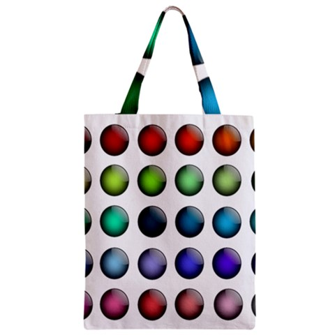 Button Icon About Colorful Shiny Zipper Classic Tote Bag
