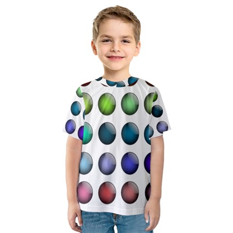 Button Icon About Colorful Shiny Kids  Sport Mesh Tee