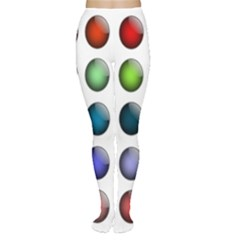 Button Icon About Colorful Shiny Women s Tights