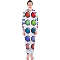Button Icon About Colorful Shiny Hooded Jumpsuit (Ladies)