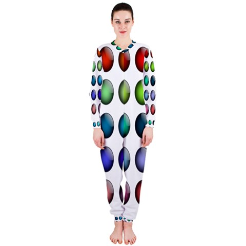 Button Icon About Colorful Shiny OnePiece Jumpsuit (Ladies)