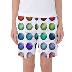 Button Icon About Colorful Shiny Women s Basketball Shorts