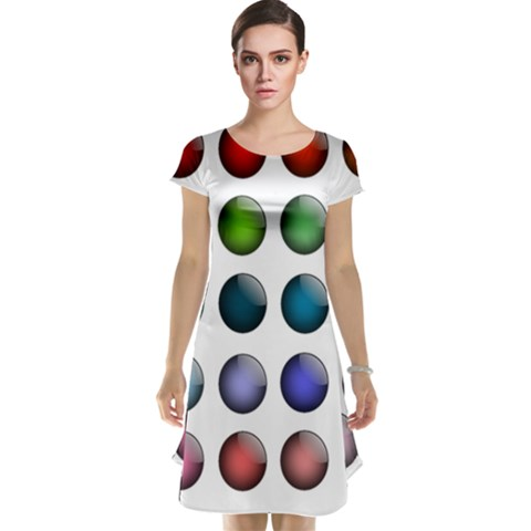 Button Icon About Colorful Shiny Cap Sleeve Nightdress