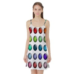 Button Icon About Colorful Shiny Satin Night Slip