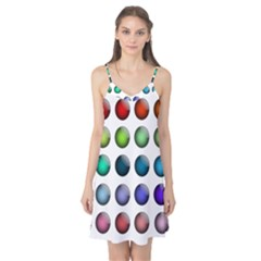 Button Icon About Colorful Shiny Camis Nightgown