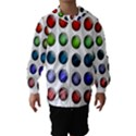 Button Icon About Colorful Shiny Hooded Wind Breaker (Kids) View1