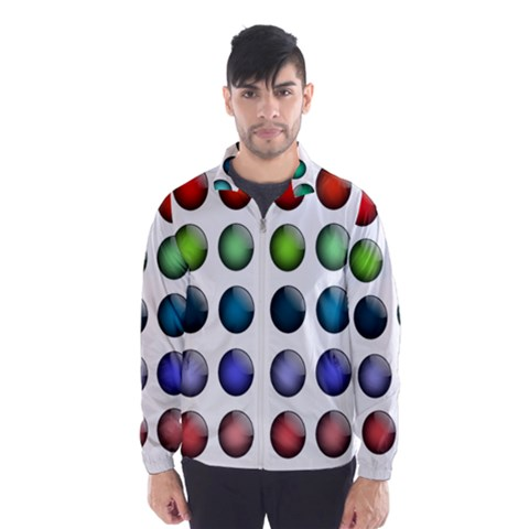 Button Icon About Colorful Shiny Wind Breaker (Men)