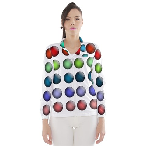 Button Icon About Colorful Shiny Wind Breaker (Women)