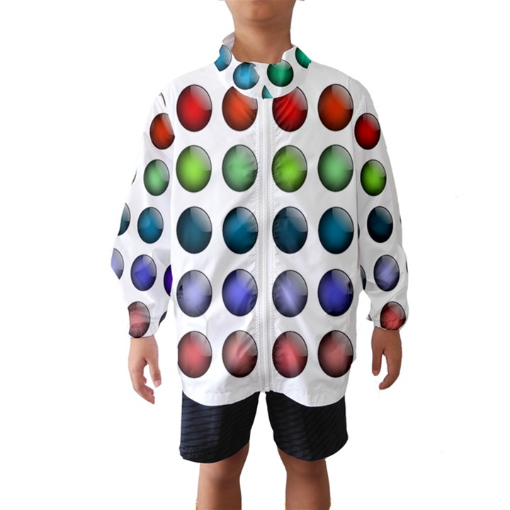 Button Icon About Colorful Shiny Wind Breaker (Kids)