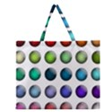 Button Icon About Colorful Shiny Zipper Large Tote Bag View1
