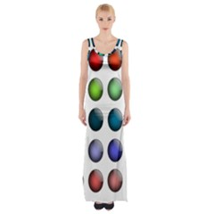Button Icon About Colorful Shiny Maxi Thigh Split Dress