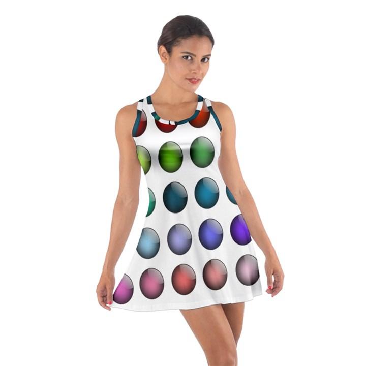 Button Icon About Colorful Shiny Cotton Racerback Dress