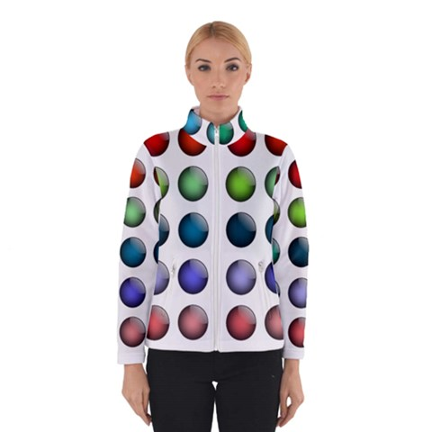 Button Icon About Colorful Shiny Winterwear