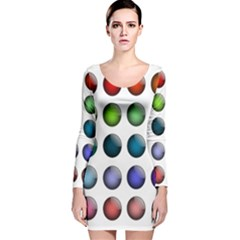 Button Icon About Colorful Shiny Long Sleeve Velvet Bodycon Dress