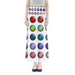 Button Icon About Colorful Shiny Maxi Skirts
