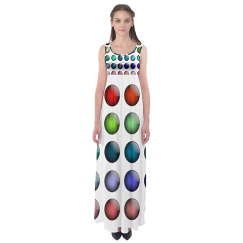 Button Icon About Colorful Shiny Empire Waist Maxi Dress