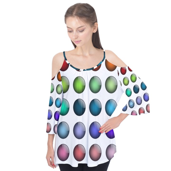 Button Icon About Colorful Shiny Flutter Tees