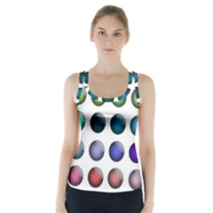 Button Icon About Colorful Shiny Racer Back Sports Top
