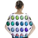 Button Icon About Colorful Shiny Blouse View2