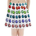 Button Icon About Colorful Shiny Pleated Mini Skirt View1