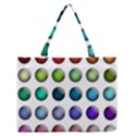 Button Icon About Colorful Shiny Medium Zipper Tote Bag View1