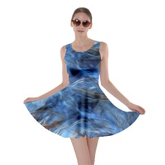 Blue Colorful Abstract Design  Skater Dress