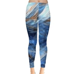 Blue Colorful Abstract Design  Leggings