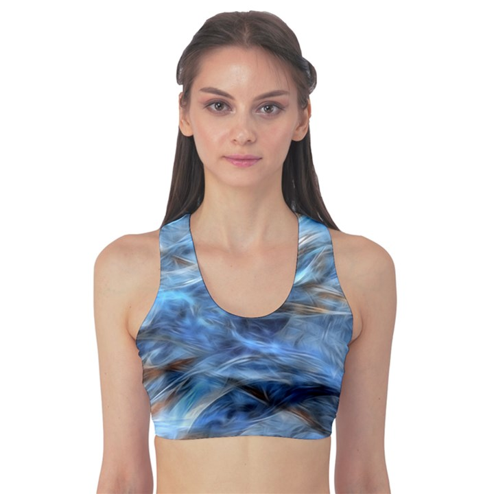Blue Colorful Abstract Design  Sports Bra