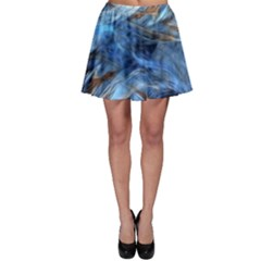 Blue Colorful Abstract Design  Skater Skirt
