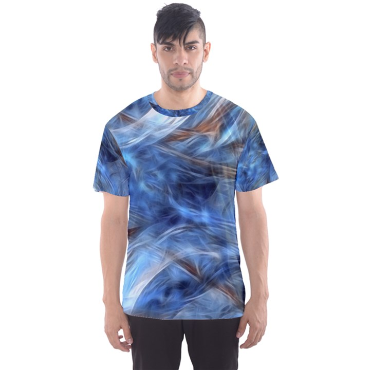 Blue Colorful Abstract Design  Men s Sport Mesh Tee