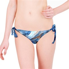 Blue Colorful Abstract Design  Bikini Bottom