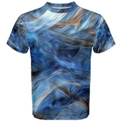 Blue Colorful Abstract Design  Men s Cotton Tee