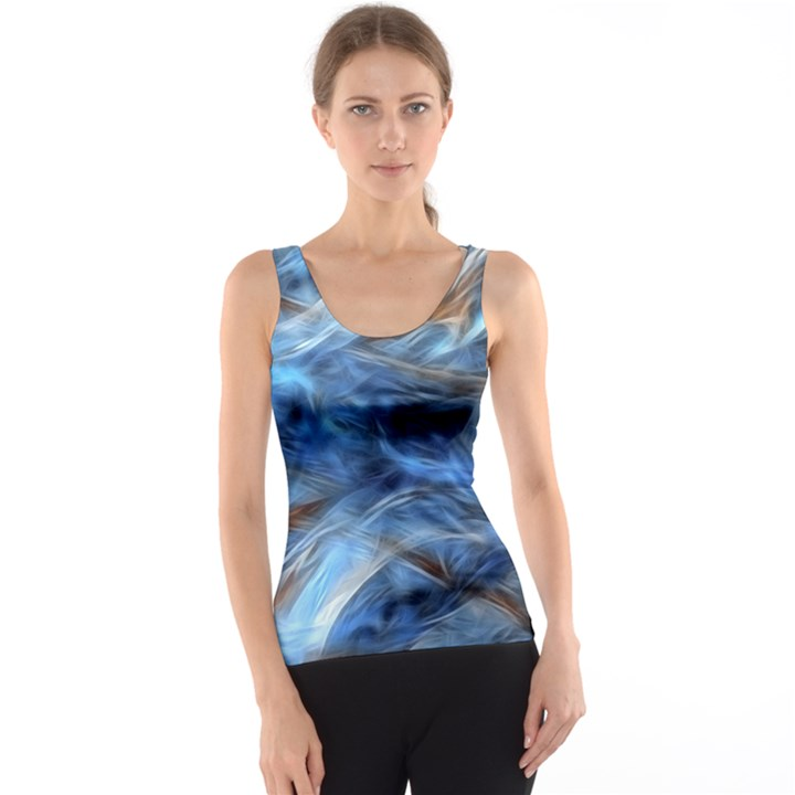 Blue Colorful Abstract Design  Tank Top