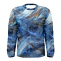 Blue Colorful Abstract Design  Men s Long Sleeve Tee View1
