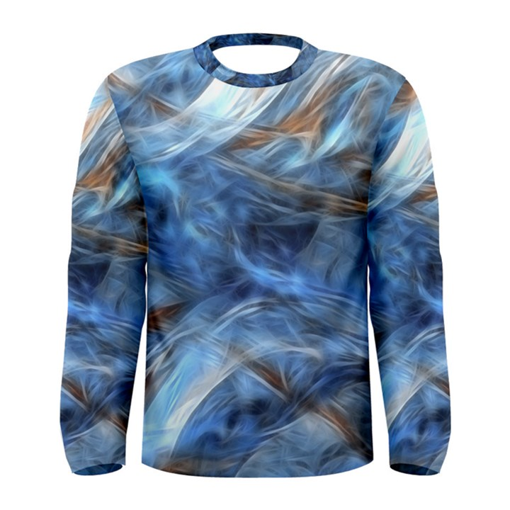 Blue Colorful Abstract Design  Men s Long Sleeve Tee