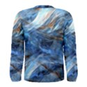Blue Colorful Abstract Design  Men s Long Sleeve Tee View2