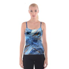 Blue Colorful Abstract Design  Spaghetti Strap Top
