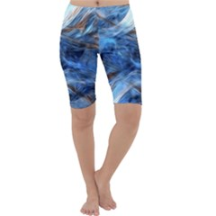 Blue Colorful Abstract Design  Cropped Leggings