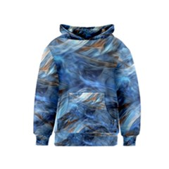 Blue Colorful Abstract Design  Kids  Pullover Hoodie