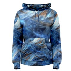 Blue Colorful Abstract Design  Women s Pullover Hoodie