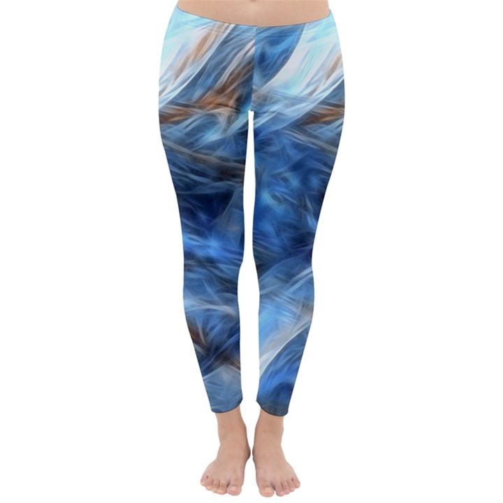 Blue Colorful Abstract Design  Winter Leggings