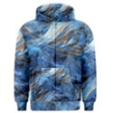 Blue Colorful Abstract Design  Men s Zipper Hoodie View1