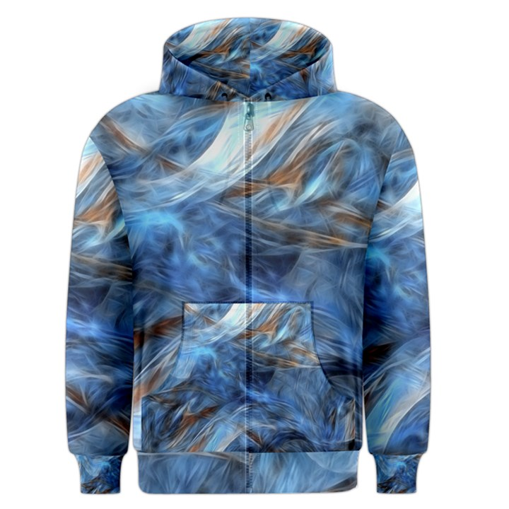 Blue Colorful Abstract Design  Men s Zipper Hoodie